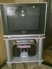 Продам телевизор самсунг черный с тумбой